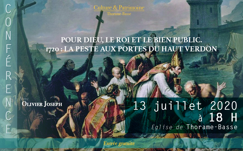 Pour Dieu, le Roi et le Bien Public – 1720 : la peste aux portes du Haut Verdon