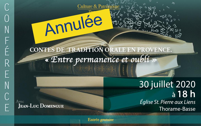 Contes de Tradition Orale en Provence : Entre permanence et oublie
